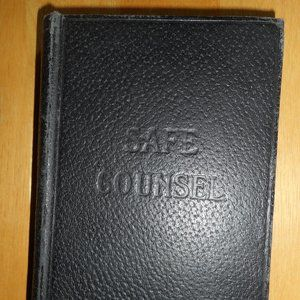 Antique Book Safe Counsel Published 1921 by J.L. N